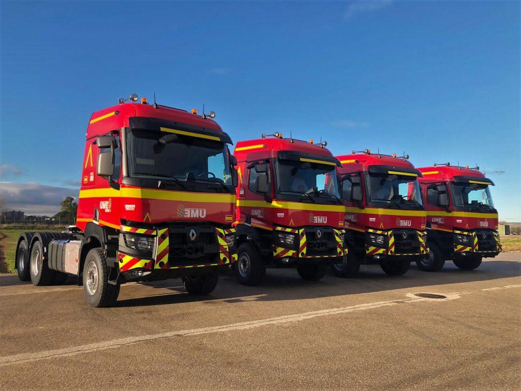 Renault Trucks entrega nuevas unidades para Transporte de Maquinaria a la UME